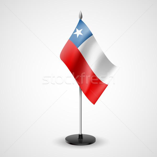 Asztal zászló Chile világ konferencia asztal Stock fotó © dvarg
