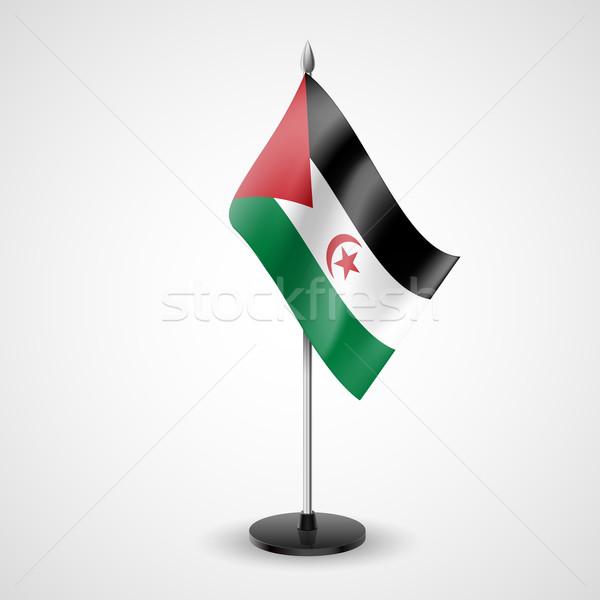 Tablo bayrak Arap demokratik cumhuriyet dünya Stok fotoğraf © dvarg