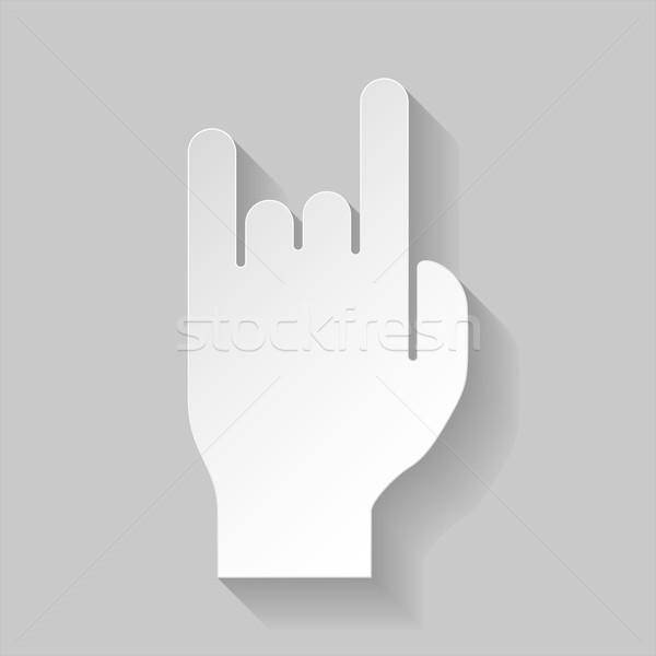 рок катиться знак дьявол Роге жест Сток-фото © dvarg