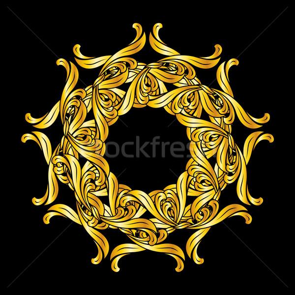 Kwiatowy wzór stylu złoty Zdjęcia stock © dvarg