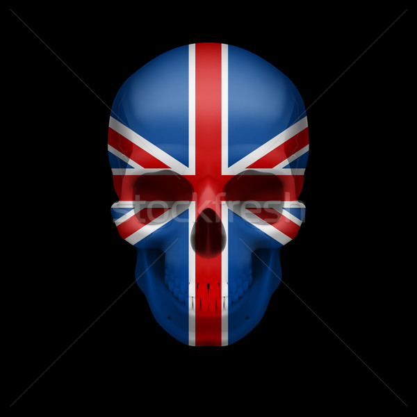 British flag skull Stock photo © dvarg