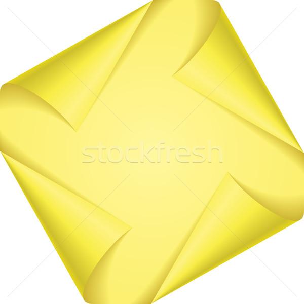 Ayarlamak sayfa köşeler sarı beyaz kâğıt Stok fotoğraf © dvarg