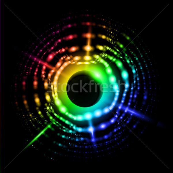 аннотация Солнечная система иллюстрация черный дизайна солнце Сток-фото © dvarg