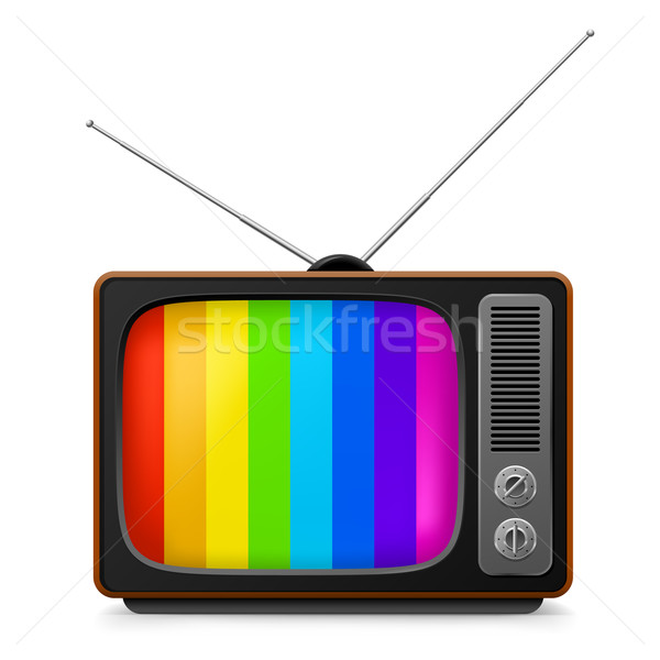 Realistic vintage TV with color frame Stock photo © dvarg
