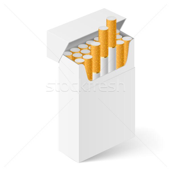 Blanco Pack cigarrillos aislado diseno salud Foto stock © dvarg