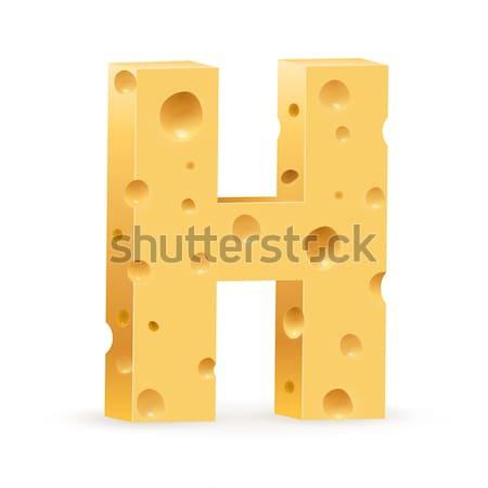 Stock foto: Schreiben · Käse · Schriftart · Illustration · weiß · Textur