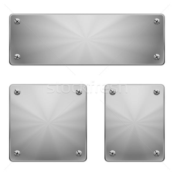 Metal plates. Stock photo © dvarg