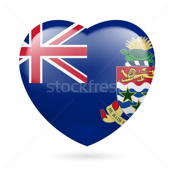 Heart icon of Cayman Islands Stock photo © dvarg