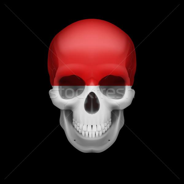 Monacan flag skull Stock photo © dvarg
