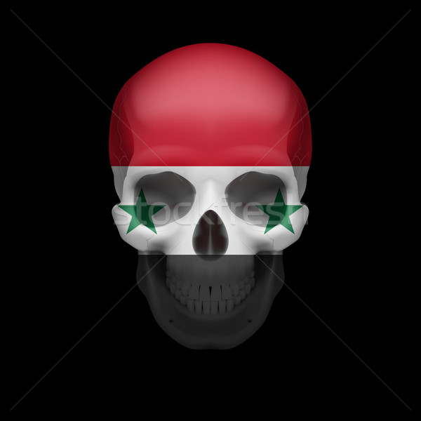 Syrian flag skull Stock photo © dvarg