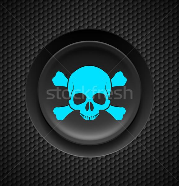 Skull and crossbones button Stock photo © dvarg