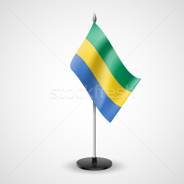 Table flag of Gabon Stock photo © dvarg