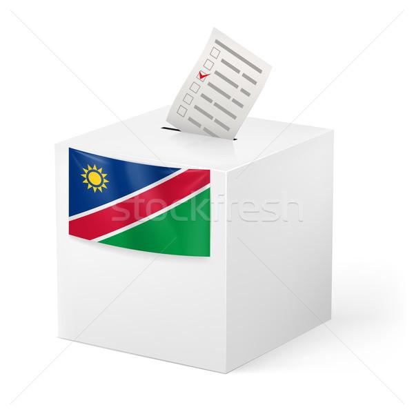 Cédula caixa votação papel Namíbia eleição Foto stock © dvarg
