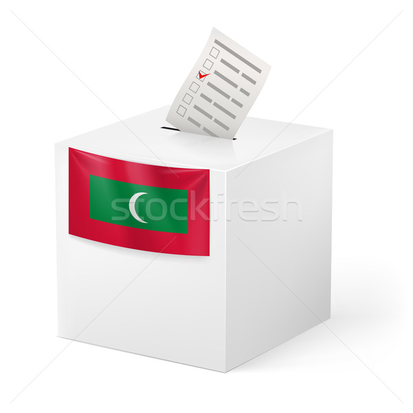 Ballot box with voting paper. Republic of the Maldives Stock photo © dvarg