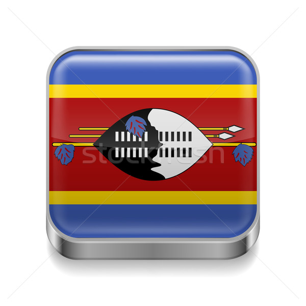 Metal  icon of Swaziland Stock photo © dvarg