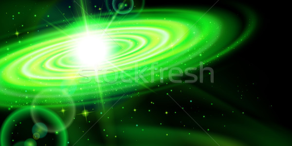 Green galaxy Stock photo © dvarg