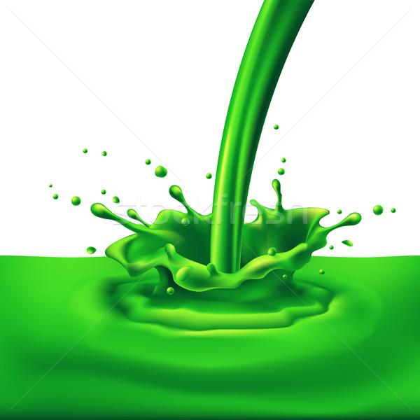 Green paint splashing Stock photo © dvarg