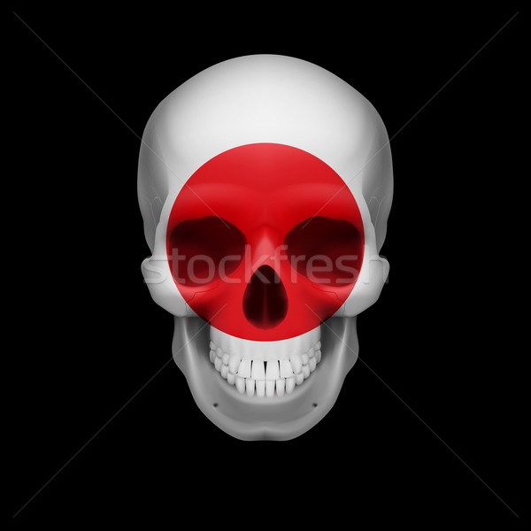 Japanese flag skull Stock photo © dvarg