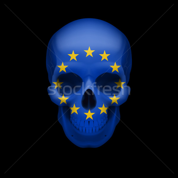 Skull with EU flag Stock photo © dvarg