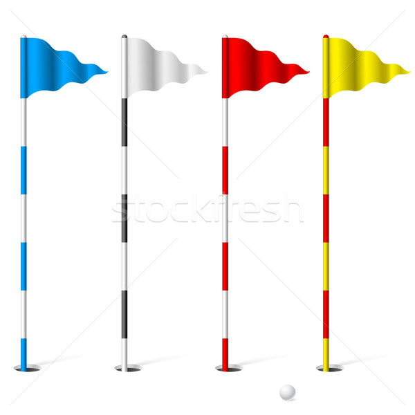 Golf flags Stock photo © dvarg