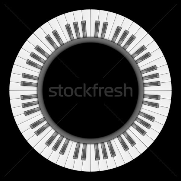 клавиши пианино аннотация иллюстрация Creative дизайна черный Сток-фото © dvarg