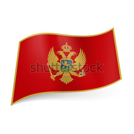State flag of Montenegro. Stock photo © dvarg