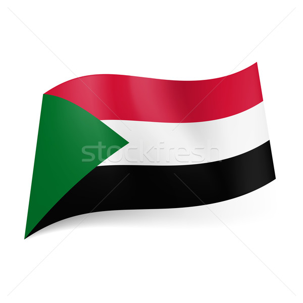 State flag of Sudan. Stock photo © dvarg