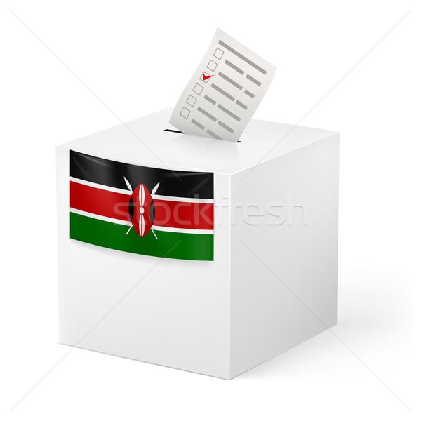 Ballot box with voting paper. Kenya Stock photo © dvarg