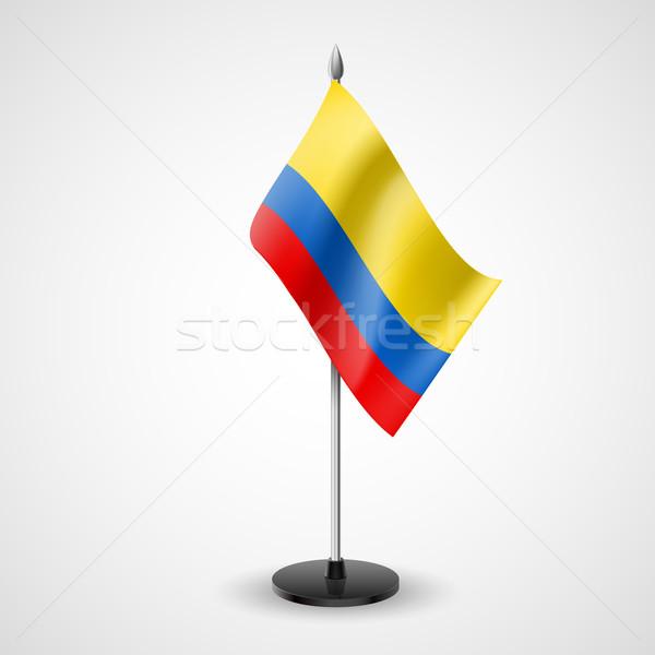 Tablo bayrak Kolombiya dünya konferans büro Stok fotoğraf © dvarg