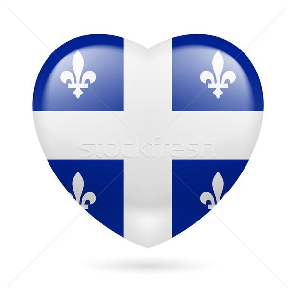 Hart icon Quebec liefde vlag ontwerp Stockfoto © dvarg