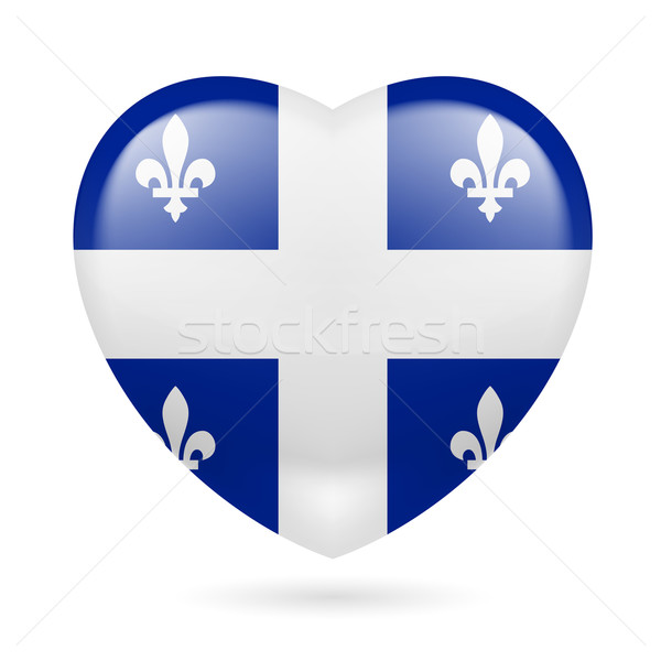 Heart icon of Quebec Stock photo © dvarg