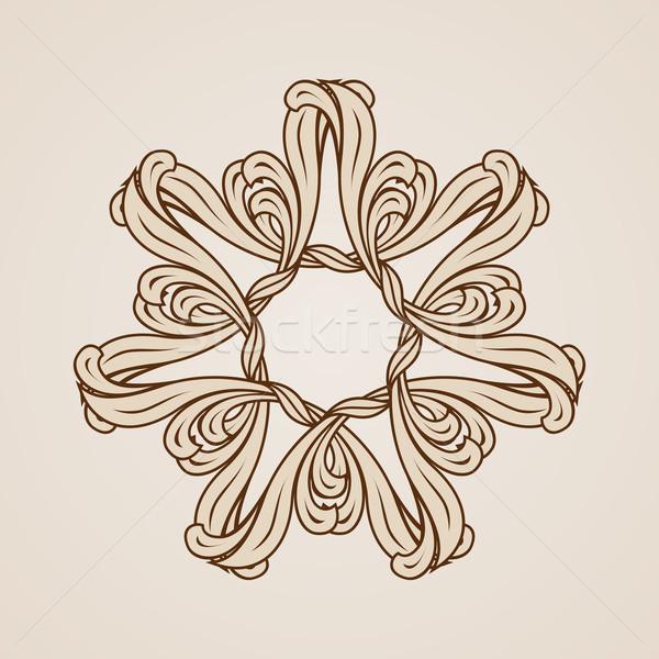Kwiatowy wzór streszczenie kwiat świetle Zdjęcia stock © dvarg