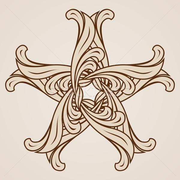 フローラル パターン 抽象的な 星 光 暗い ストックフォト © dvarg