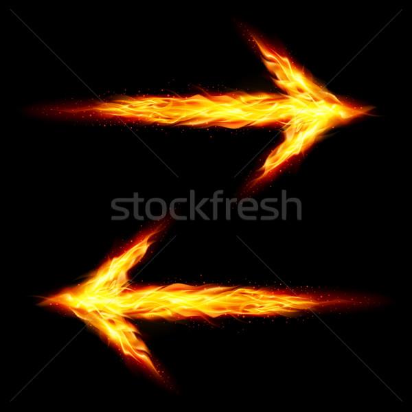 Two fire arrows Stock photo © dvarg