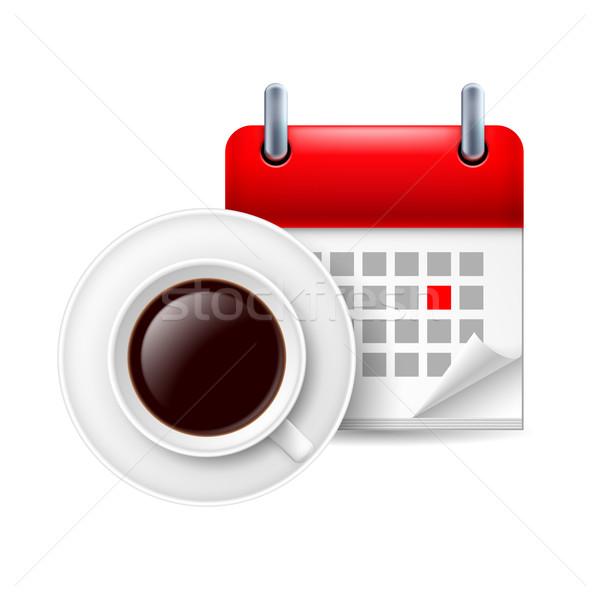 Cup of coffee ad calendar Stock photo © dvarg