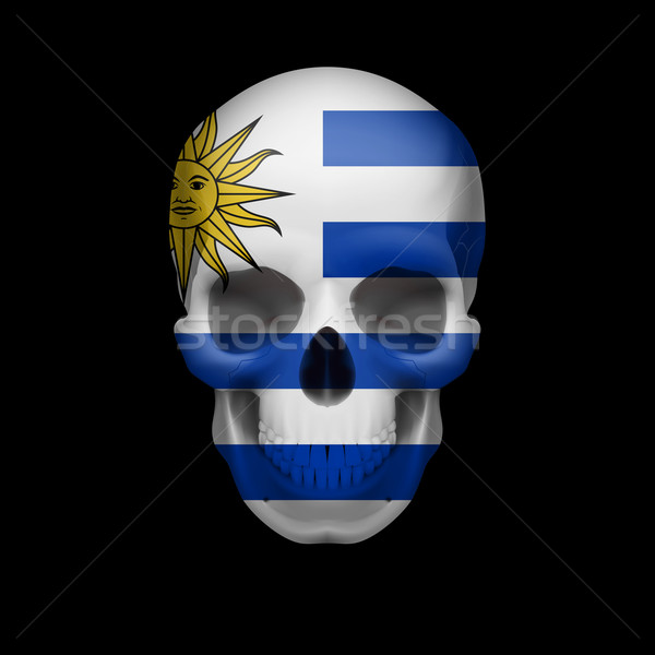 Uruguayan flag skull Stock photo © dvarg