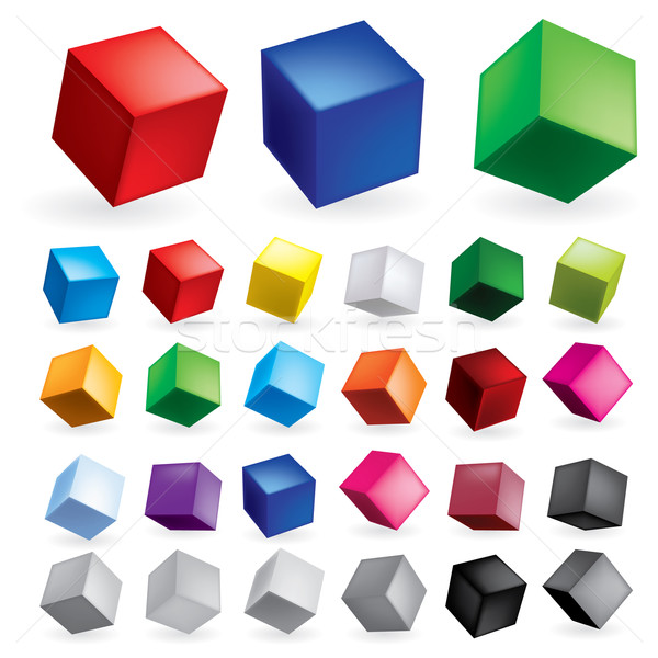 Cubes poste formation design fond Photo stock © dvarg