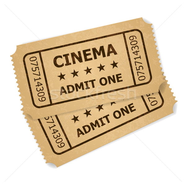 Two retro cinema tickets Stock photo © dvarg
