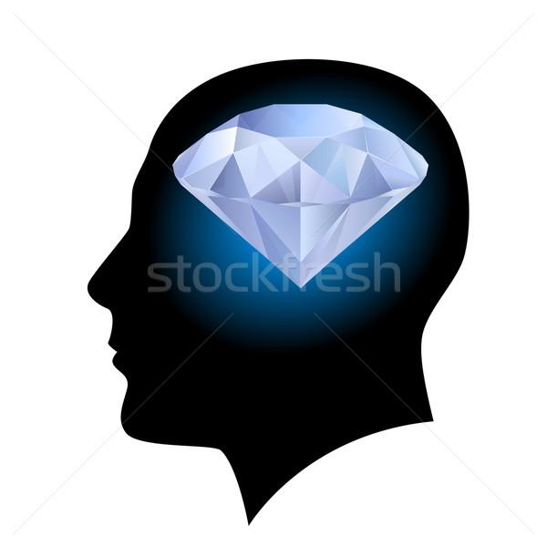 Man head and diamond Stock photo © dvarg