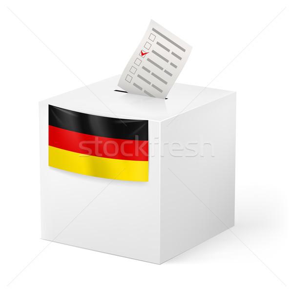 Cédula caixa papel Alemanha eleição isolado Foto stock © dvarg