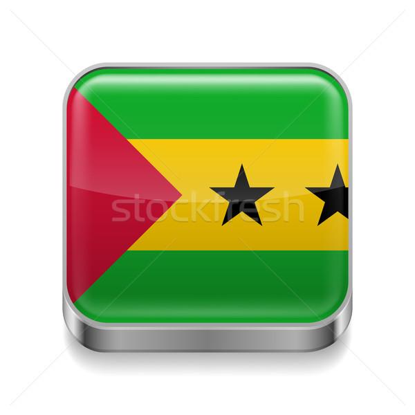 Metal  icon of Sao Tome and Principe Stock photo © dvarg