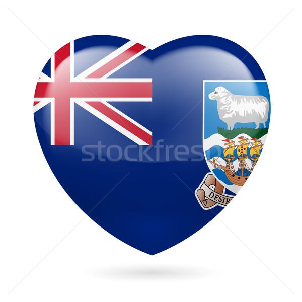 Szív ikon Falkland-szigetek szeretet zászló terv Stock fotó © dvarg