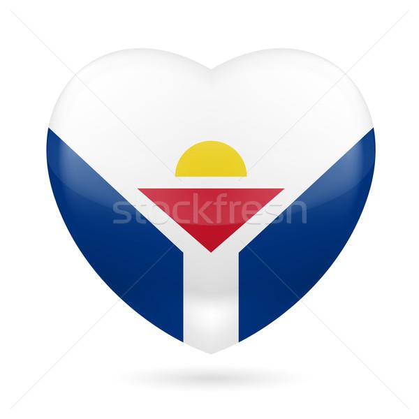 Heart icon of Saint Martin Stock photo © dvarg