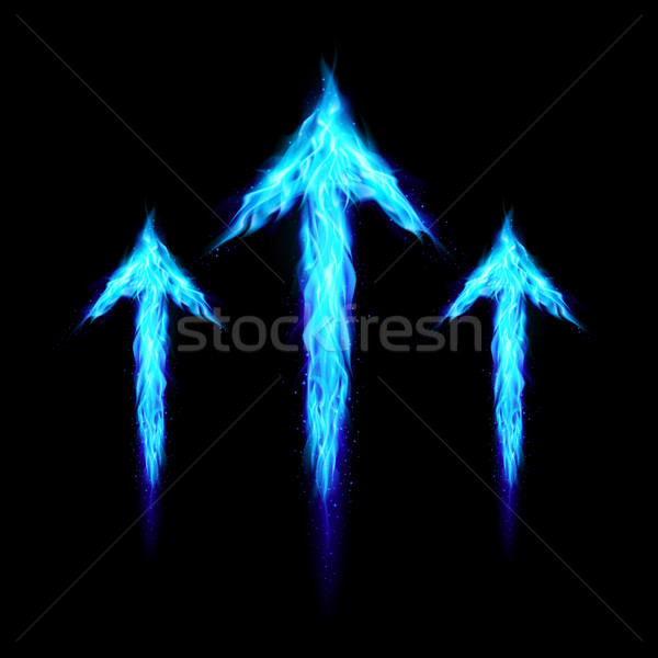 Three fire arrows Stock photo © dvarg