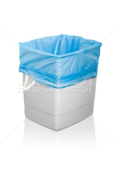 мусорный ящик изолированный белый городского корзины пластиковых Сток-фото © dvarg