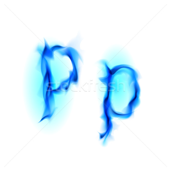 Fiery font. Letter P Stock photo © dvarg