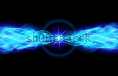 Bright blue star Stock photo © dvarg