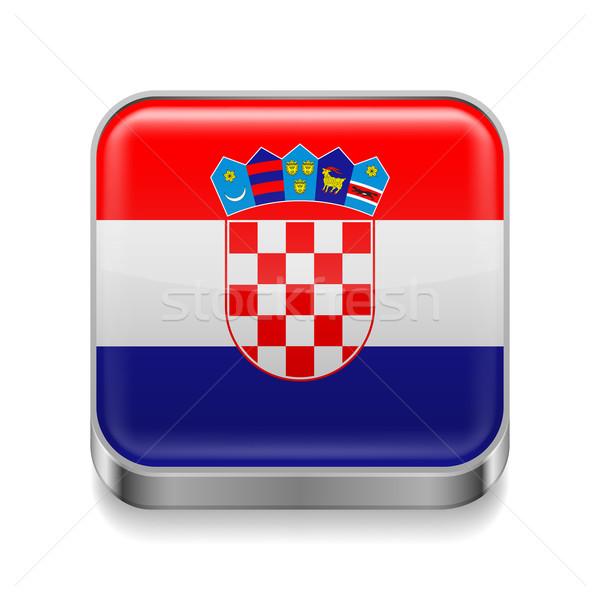 Metal  icon of Croatia Stock photo © dvarg