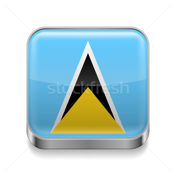 Metal  icon of Saint Lucia Stock photo © dvarg