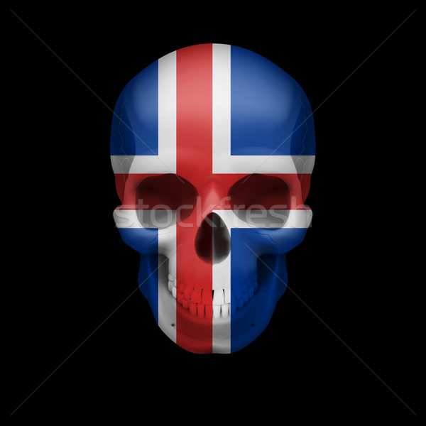 Icelandic flag skull Stock photo © dvarg